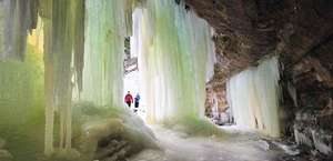 Eben Ice Caves and Canyon Falls & Gorge