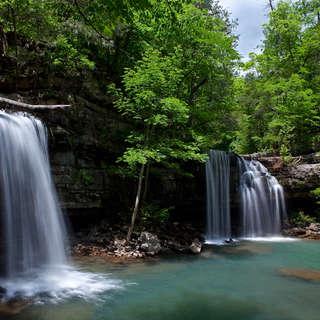 Twin Falls in Richland Creek