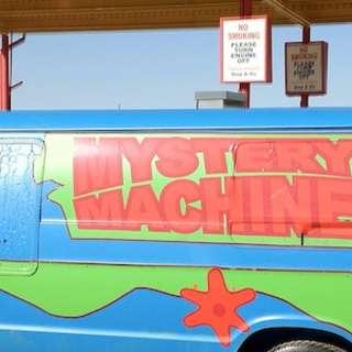 Scooby Doo Van and a Lightning Mcqueen