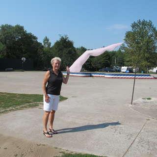 Giant Lady's Leg Sundial