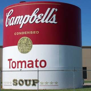 Giant Campbell's Tomato Soup Can