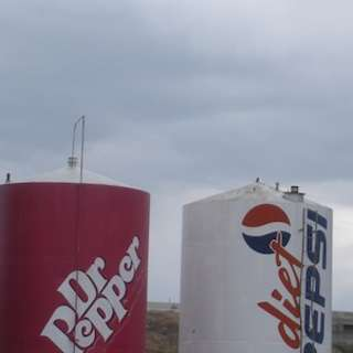Giant Soda Cans