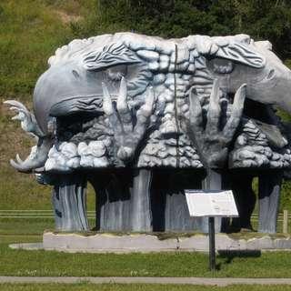 Four Headed-Thunderbird Statue
